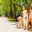 Two girls with dogs — Stock Photo #52852717