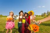 Children in costumes — Stock Photo
