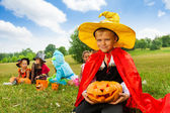 Boy in wizard costume — Stock Photo