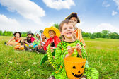 Cute boy in monster costume — Stock Photo