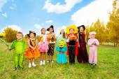 Kids with Halloween costumes — Stock Photo