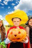 Boy in Halloween costume — Stock Photo