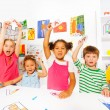 Boys and girls showing letters — Stock Photo #60425849