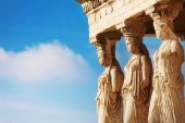 Beautiful Statues of Erechtheion — Stock Photo