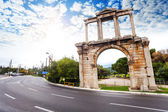 Arch of Hadrian in Athens — Stock Photo