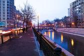 Dambovita river in Bucharest — Stock Photo