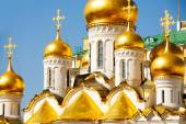Annunciation Cathedral cupolas — Stock Photo