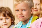 Boy and other kids together — Stock Photo