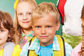 Happy children stand together — Stock Photo