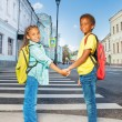 African kids holding hands — Stock Photo #60954871