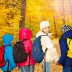 Children wearing rucksacks — Stock Photo #60955859