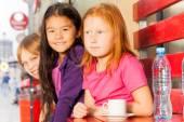 International children drinking tea — Stock Photo