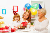 Little girl's birthday party — Stock Photo