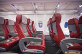 Row of seats in commercial jet plane — Stockfoto