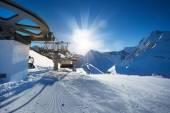 Ski-track of Caucasus mountains — Foto de Stock