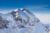 Caucasus mountains peak view — Stock Photo