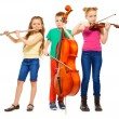 Children playing musical instruments — Stock Photo #77369076