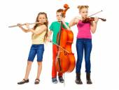 Children playing musical instruments — Stock Photo