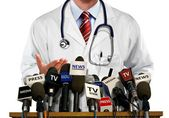 Doctor Press and Media Conference — Stock Photo