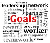 Organization goals concept — 图库照片