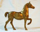 Messing-Pferd — Stockfoto
