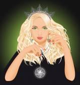 Güzel cadı — Stok Vektör