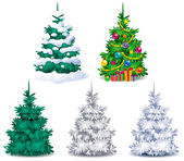 Set of Christmas trees — Stockvector