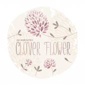 Clover Flower Circle — Vettoriale Stock
