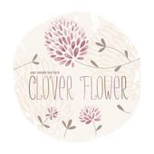 Clover Flower Circle — Stockvektor