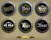 Bottle caps — Stock Vector