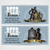 Set di etichette di birra — Vettoriale Stock
