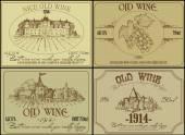 Set of wine labels — Stock Vector
