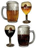 Beer background — Stock Vector