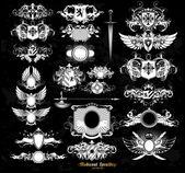 Reihe von mittelalterlichen Heraldik — Stockvektor