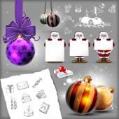 Conjunto de la navidad — Vector de stock