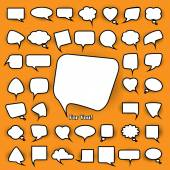 Set of chat bubbles — Stock Vector