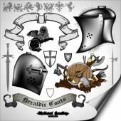 Set van oude wapens — Stockvector