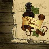 Natural herbs — Stock Vector