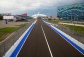 Line of championship Formula 1 in Sochi in Olmpijsky park — Stock Photo