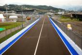 Line of championship Formula 1 in Sochi in Olympic park — Stock Photo