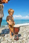 Beach entertainments for child — Stock Photo