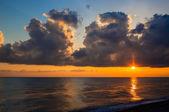 Decline of cloud over quiet sea — Foto Stock