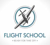 Flight school logo — Stock Vector