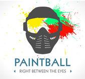 Paintball logo — Stock Vector