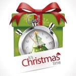 Stopwatch - Christmas time — ストックベクタ #59467339