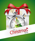 Stopwatch - Christmas time — Stockvektor