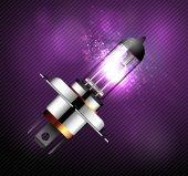 Car part - car light bulb — Stock Vector