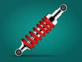 Car parts - absorber — Stock Vector
