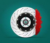 Car part - brake — Stock Vector