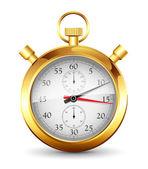 Gyllene klocka — Stockvektor